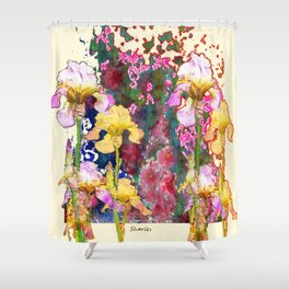 Decorative Yellow & Pink Spring Shower Curtain