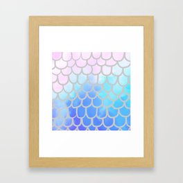 Silver Scales and Fishy Tails Framed Art Print