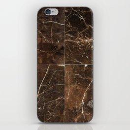 Brown Granite Squares iPhone Skin