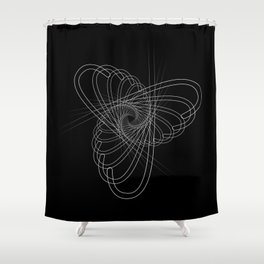 """Fly Collection"" - Abstract Minimal Letter J Print Shower Curtain"