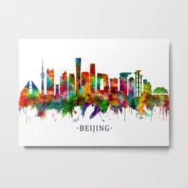 Beijing China Skyline Metal Print