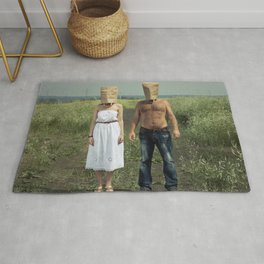 Paper bag couple Rug