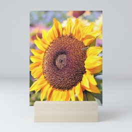 Sunflower Bee by Reay of Light Mini Art Print