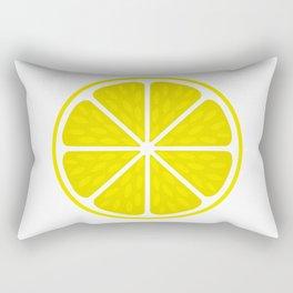 Fresh juicy lime- Lemon cut sliced section Rectangular Pillow