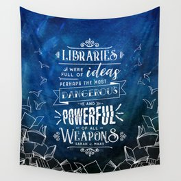 Libraries Wall Tapestry