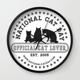 National Cat Day Wall Clock
