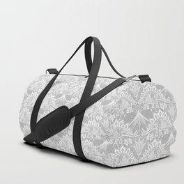 Stegosaurus Lace - White / Silver Duffle Bag