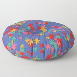 Random star pattern in vibrant colors Floor Pillow
