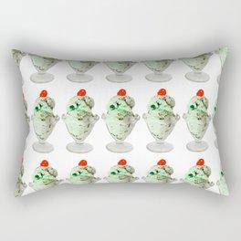 Pistachio Ice Cream Pattern Rectangular Pillow