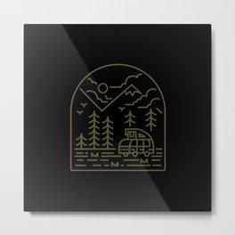 Into the Mountain Metal Print