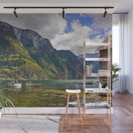 Clear water of fjords Wall Mural