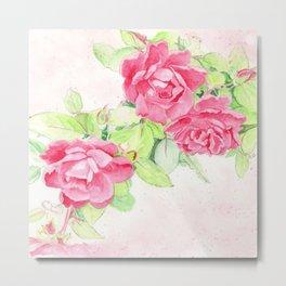 Cafe Roses Metal Print