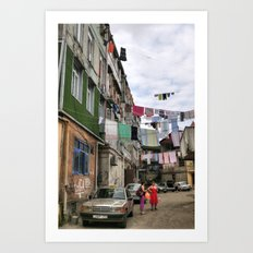 Laundry service Art Print