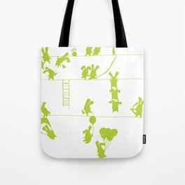 Green Bunnies Tote Bag