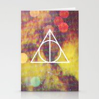 deathly hallows Stationery Cards featuring Deathly Hallows by Michal