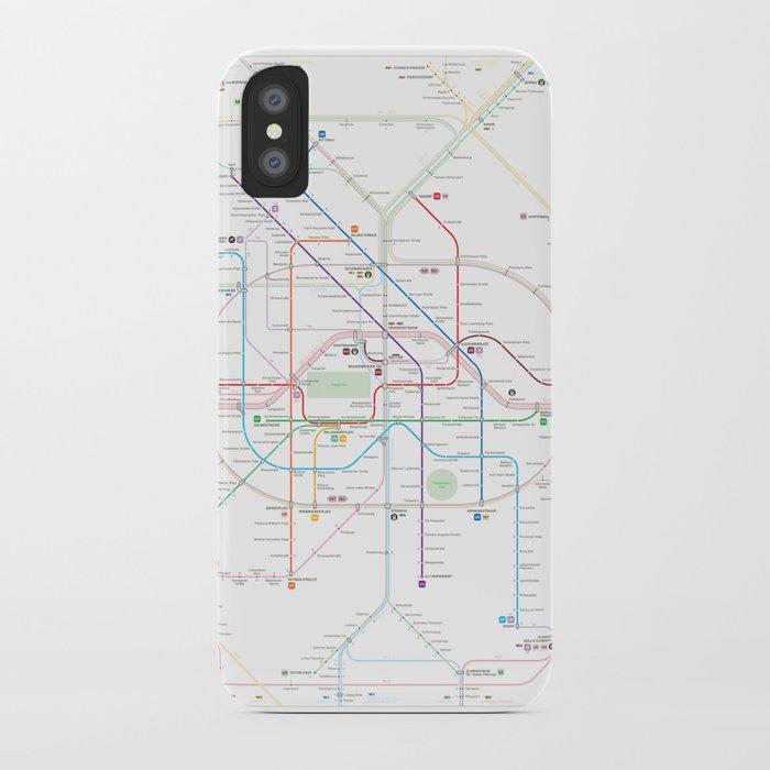 Germany Berlin Metro Bus U Bahn S Bahn Map Iphone Case By - Berlin-us-bahn-map
