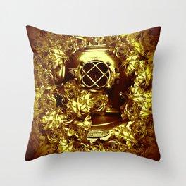 gold diver Throw Pillow