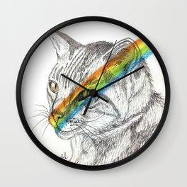 Cat's eye rainbow Wall Clock
