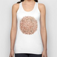 rose gold Tank Tops featuring Rose Gold Burst by Cat Coquillette