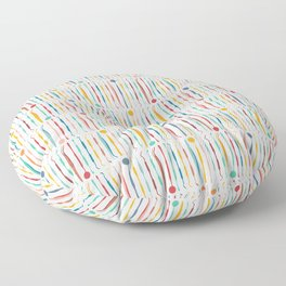 Rainbow Dental Tool Pattern Floor Pillow