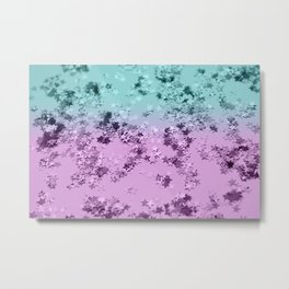 Mermaid Lady Glitter Stars #3 #decor #art #society6 Metal Print
