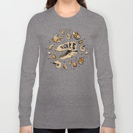Geo-rex Vortex | Citrine Quartz Long Sleeve T-shirt