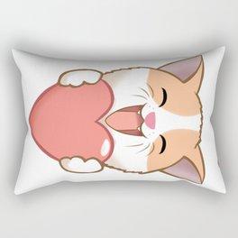 Cute Cat in Love Rectangular Pillow