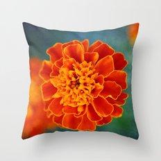 One in Orange Throw Pillow