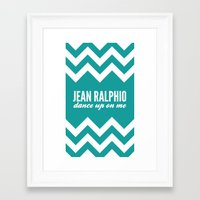 parks and recreation Framed Art Prints featuring Jean Ralphio - Parks and Recreation by Sandra Amstutz