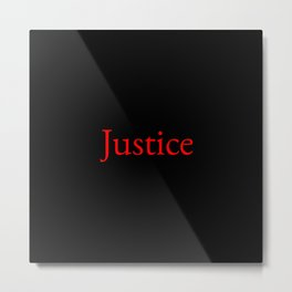 Justice 2- red Metal Print
