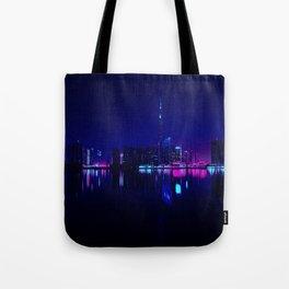 Cyberpunk Miami Tote Bag