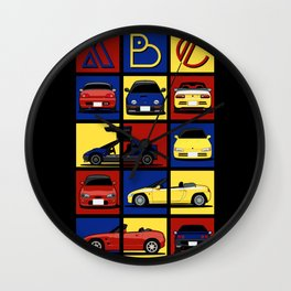 Kei Cars ABC Wall Clock