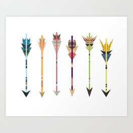 Arrow Collage Art Print