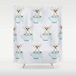 Chihuahua on toilet Shower Curtain