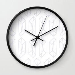 Almost Geometric Jewels Pattern 2 Wall Clock