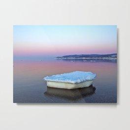 Ice Raft on the Sea Metal Print