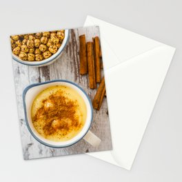 Boza or Bosa, traditional Turkish dessert made of millet or corn flour Stationery Cards