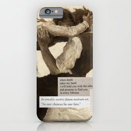 Dark Academia | Romance - In Our Choices Lie Our Fate | Poetry Study Painting Love Death Aesthetic iPhone Case