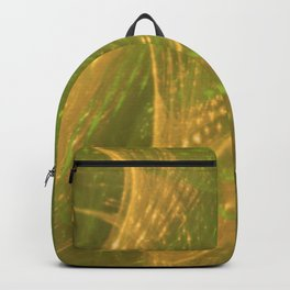 Green Yellow Asymmetric Fractal Backpack