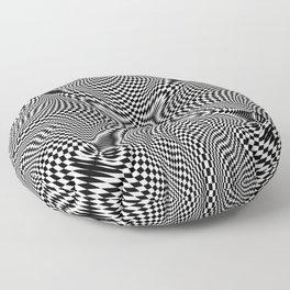 Checkered moire IV Floor Pillow