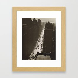 35th Street Manhattan Framed Art Print