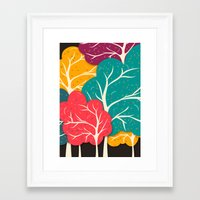 jazzberry Framed Art Prints featuring Happy Forest by Danny Ivan