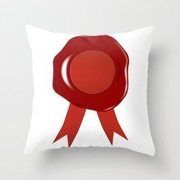 Wax Stamp Throw Pillow