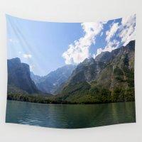 switzerland Wall Tapestries featuring Bavaria - Alpes- Koenigssee Lake by UtArt