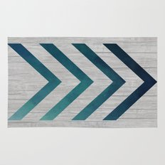 Blue Arrow  Rug