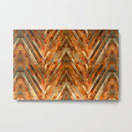 Wood Plank Texture Metal Print