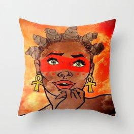 Bantu Bandit Throw Pillow