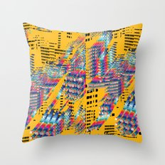 Fragmented Worlds IV Throw Pillow