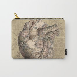 adventure heart-world map 3 Carry-All Pouch