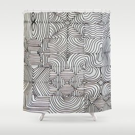 Crazy Lines Shower Curtain